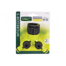 MCGREGOR'S 22235 2-WAY PLASTIC SHUT-OFF VALVE