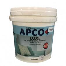 APCO LUXE SEMI-GLOSS SUPER WHITE 10L ACRY INT 100%