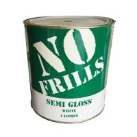 APCO NO FRILLS SEMI-GLOSS 4L- WHITE ACRYLIC