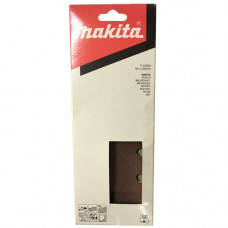 MAKITA SAND PAPER 100# / 1/3 SHEET BROWN PUNCHED - (10PK)